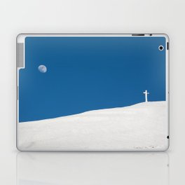 The cross of Monte Catria and the Moon, Italy Laptop & iPad Skin