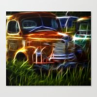 truck Canvas Prints featuring Truck by Phil Flaig