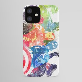 Iconic Comic Book Super Heroes ft. Iron Man  iPhone Case