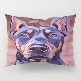 I Love My Doberman Pinscher Pillow Sham