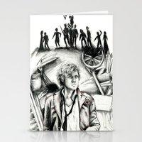 les miserables Stationery Cards featuring Les Miserables Portrait Series - Enjolras by Flávia Marques