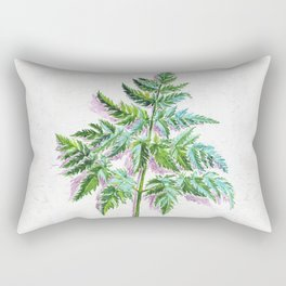 Fern leaf (watercolor on textured background) Rectangular Pillow