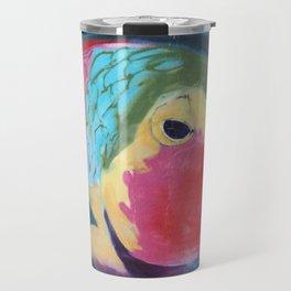 Fish Mural Corralejo Spain Travel Mug