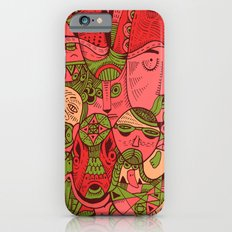 Faces Pattern iPhone 6s Slim Case