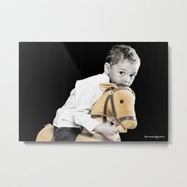 The Golden Horse and The Scary Kid Metal Print