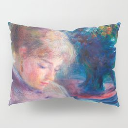 Pierre-Auguste Renoir - Young Woman Sewing Pillow Sham