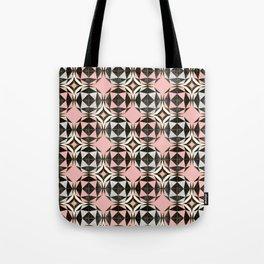 Geodesic Optic Roses Tote Bag