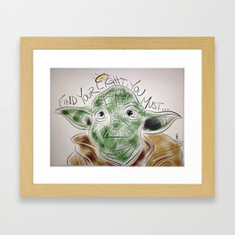 Find Your Light, You Must Framed Art Print