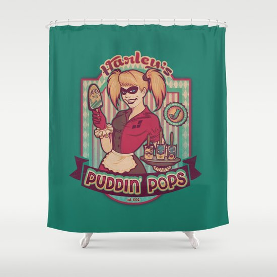 Harley's Puddin' Pops Shower Curtain