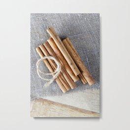 whole solid cinnamon Metal Print