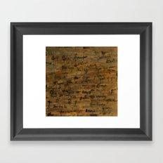 confessions Framed Art Print