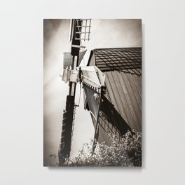 Typical Dutch Windmill in Bourtange (The Netherlands) Groningen Metal Print