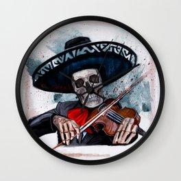 El Mariachi - Dia De Los Muertos Wall Clock