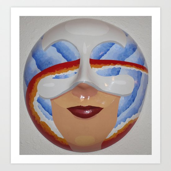 Masking Passion and Peace Art Print
