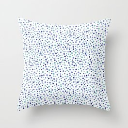 Bubble Rocks-Blue : Part of Organic Medallion collection Throw Pillow