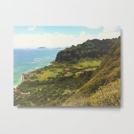 Kualoa Valley Landscape View Metal Print