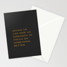 Giving Up Stationery Cards