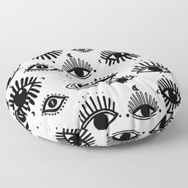 Midnight Mystic eyes Floor Pillow