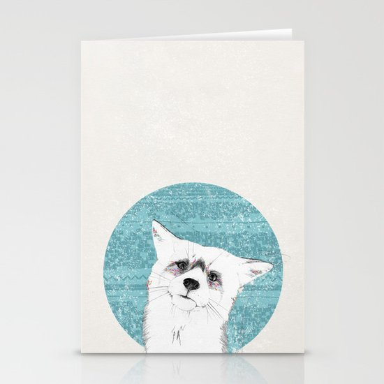 Waiting fox Stationery Cards