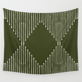 Geo (Olive Green) Wall Tapestry