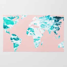 Ocean World Map Sea Dreams Rug