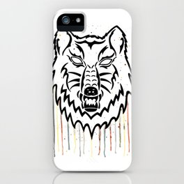 Watercolor Wolf Head iPhone Case