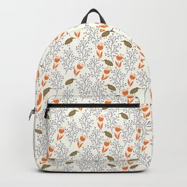 Orange Flowers Backpack