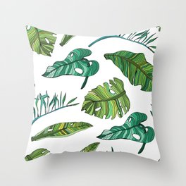 BANAN LEAVES Throw Pillow
