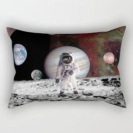 flaying in space Rectangular Pillow