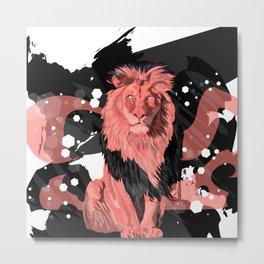 Lion Coral Metal Print