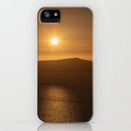 Golden Hour in Santorini iPhone Case