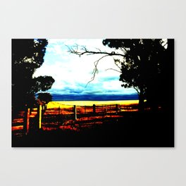 Storm clouds over wheat Fields Canvas Print