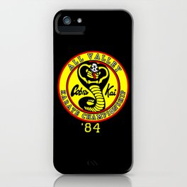 cobra kai karate clan iPhone Case