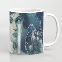 legend of korra Mugs featuring Korra by MATT DEMINO