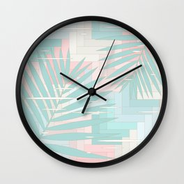 Summer Mood with Chevron and Palms Wall Clock