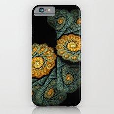 twin spirals on black iPhone 6s Slim Case