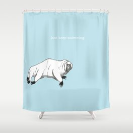 The majestic water bear Shower Curtain