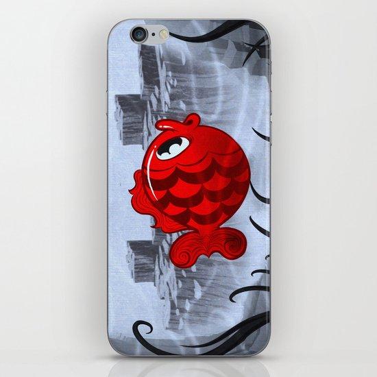 RED & BLUE iPhone & iPod Skin