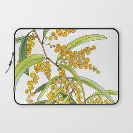 Australian Wattle Flower, Illustration Laptop Sleeve