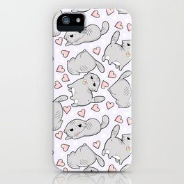 Angry Cat Candy Hearts iPhone Case