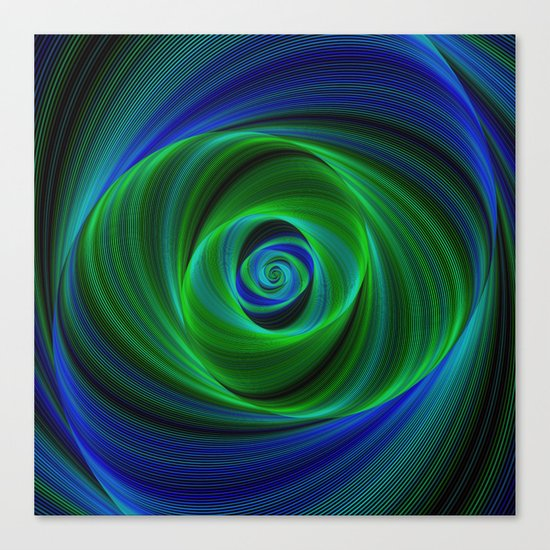 Green blue infinity Canvas Print