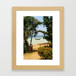 Long Tail Boat in Thailand Framed Art Print