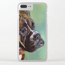 Boxer Dog Keeley Pet Portrait Clear iPhone Case