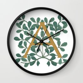 Letter A Forest Lite 2020 Wall Clock