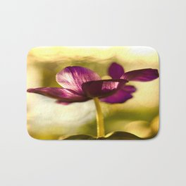 Glowing Purple Flower #decor #buyart #society6 Bath Mat