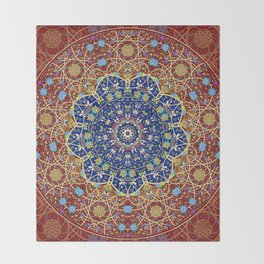Woven Star in Blue and Red Throw Blanket