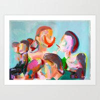 Crowded Places Art Print