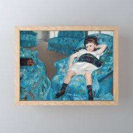 Mary Cassatt - Little Girl in a Blue Armchair Framed Mini Art Print
