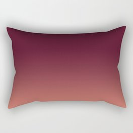 Maroon to Blush Rectangular Pillow