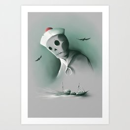 Wreckage of the past Art Print